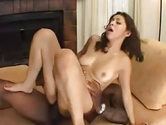 Black guys pull off a brief DP with her tubes