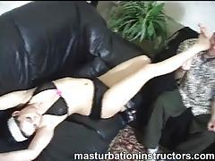 Sucking the toes of the skinny girl tubes