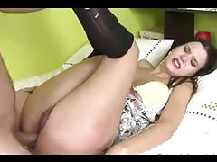 Horny girl in pantyhose doggy style sex tubes