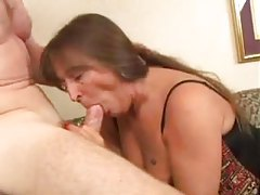 Anally fucked mature slut in corset tubes
