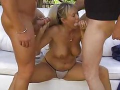 Horny blonde milf outdoors and boned tubes