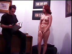 Cute redhead girl submits to body inspection tubes