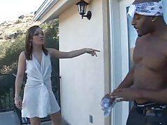 Black guy fondles the hot white girl tubes