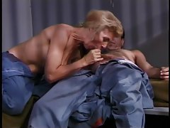 Horny old blonde fucked in jail tubes