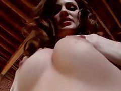 Glamorous Lily Carter in shiny tight dress tubes