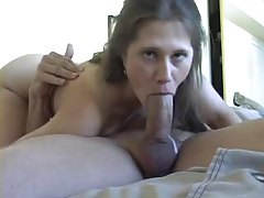 Her amateur blowjob includes deepthroat tubes