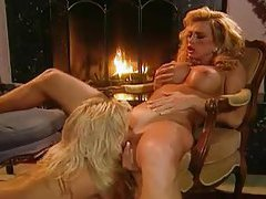 Two super glamorous blondes eat pussy tubes
