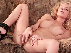 Big titty chick with curly hair masturbates tubes