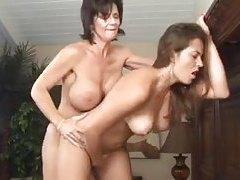 Big tits lesbian Deauxma strapon fucks babe tubes