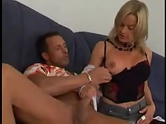 Milf handjob slut fucked in her black panties tubes
