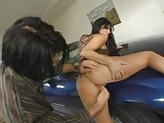 Bearded man blown by a lusty lady tubes