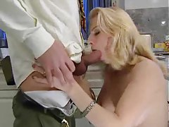 Blonde gives BJ and gets boned tubes