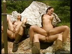 Horny monsters butt fuck sluts outdoors tubes