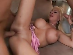 Blonde bimbo fucked in both holes tubes