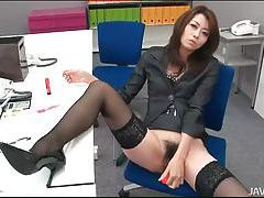 Japanese office girl solo masturbation tubes