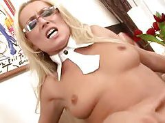 Diana Doll fucked in her pretty glasses tubes