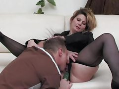 Black pantyhose girl fucked in the cunt tubes