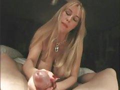 Huge tits wife with great nips gives handjob tubes