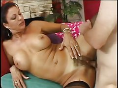 Hairy mature pounded in the asshole tubes