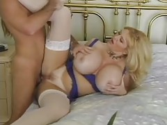Massive tits chick in stockings pounded tubes