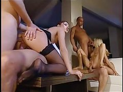 Euro orgy with seriously hot bitches tubes