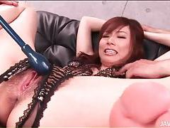Crotchless panties make Japanese girl sexy tubes