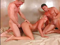 Insanely hot blonde threesome sex tubes