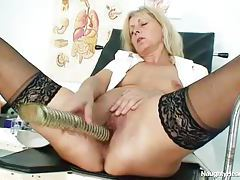 Mature nurse brings you inside her pussy tubes