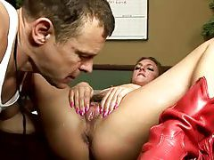 Petite tattooed blonde squirts all over the place tubes