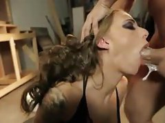 Deepthroat fucking a big tits tattooed slut tubes