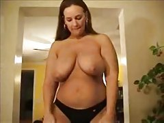 Fatty models her huge ass in a thong tubes