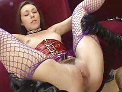 Kinky latex lesbian strapon sex scene tubes