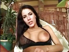 Your fuck slut looks hot in fishnets having sex tubes