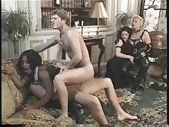 White girls watch black slut have DP tubes