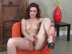Karlie Montana glass dildo masturbation tubes
