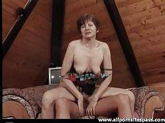 Horny mature babe rides big hard cock tubes