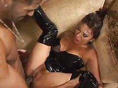 Ava Devine latex slut fucked by big black cock tubes