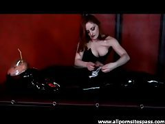 Kinky rubber play with a femdom goddess tubes