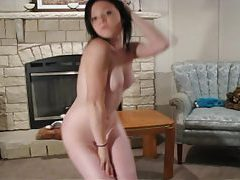 Perky bodied Rylie strips out of her sexy clothes tubes