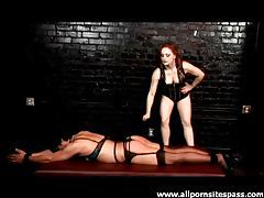 Bound girl caned by her mistress tubes
