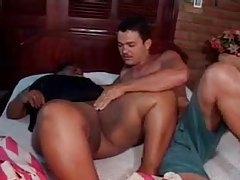 Big chubby ebony seductress enjoys interracial loving tubes