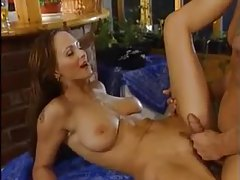 He pisses on her and fucks her hard tubes