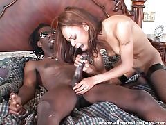 Fishnets slut in amazing ebony anal fuck tubes