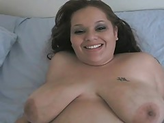 Huge cutie sucks on a dark dick tubes