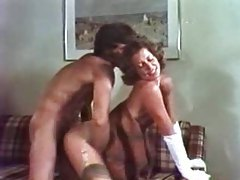 Vintage girl in gloves suck and fuck tubes