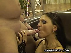 Amateur whores in a homemade gangbang tubes
