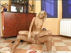 Perfectly bronzed blonde teen riding big dick tubes