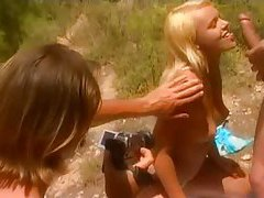 His two lovers outdoors are sexy girls tubes