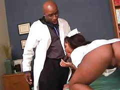 Horny ebony patient gives her doctor a blowjob tubes