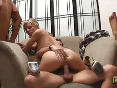 Incredibly hot ladies getting ravaged at a steamy party tubes